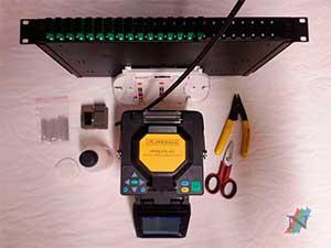 Fusion Bandeja Fibra Optica